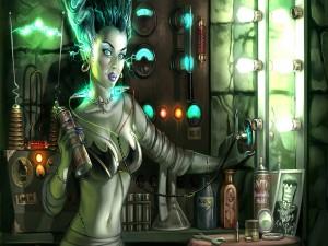 Postal: La novia de Frankenstein