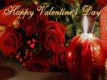 Rosas y velas para el Día de San Valentín