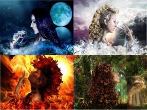 Hadas de los cuatro elementos