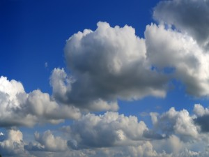 Postal: En las nubes