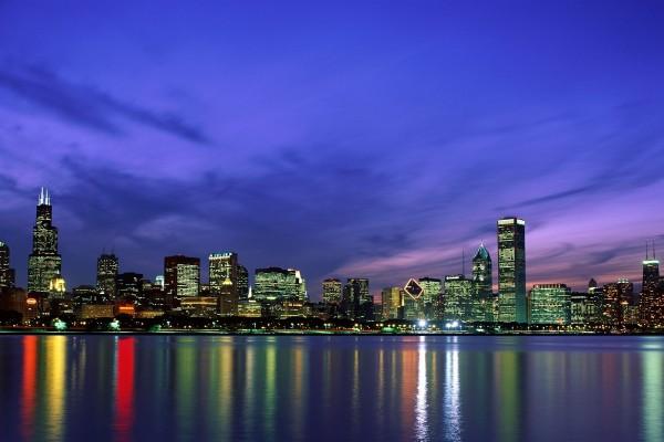 Cielo azul sobre Chicago