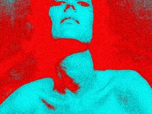 Mujer en dos colores