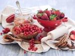 Frutos rojos y miel