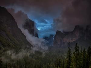 Postal: Noche en el Parque Nacional de Yosemite