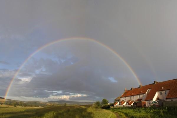Un gran arcoíris