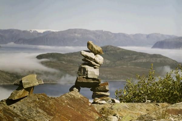 Piedras indicando el buen camino
