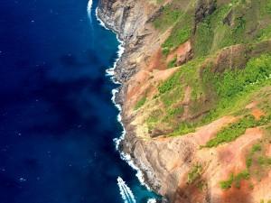 Vista aérea de los acantilados