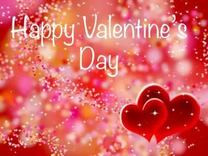 """Brillante tarjeta """"Feliz Día de San Valentín"""""""