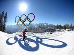 Postal: Esquí en los Juegos Olímpicos de Invierno 2014