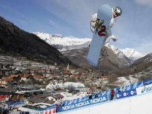 Postal: Competición de snowboard