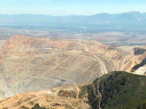 Vista aérea de la mina