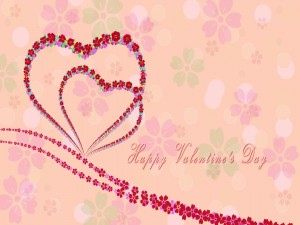 """Tarjeta con flores """"Feliz Día de San Valentín"""""""