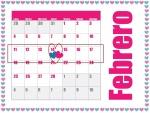 14 de Febrero señalado en el calendario