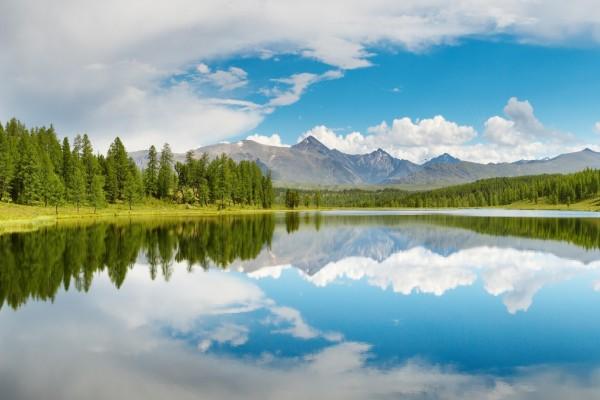 Paisaje en el lago