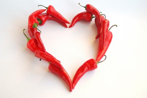 Corazón de chiles