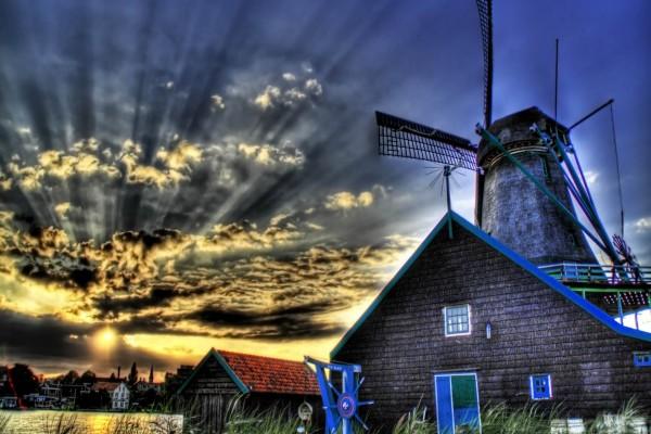 El sol y el molino