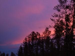 Bonitos colores en el cielo al atardecer