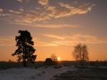 El sol en una fría tarde de invierno