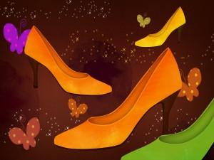 Zapatos y mariposas
