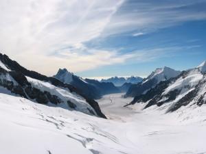 Postal: Sobre la nieve