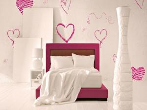 Corazones en el dormitorio