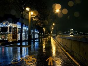 Postal: La noche en Budapest