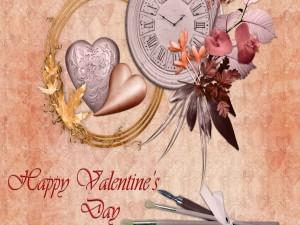 """Postal: Bonita tarjeta """"Feliz Día de San Valentín"""""""