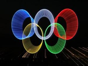 Anillos Olímpicos con luces