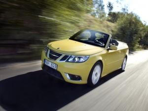 Postal: Saab 9-3 en movimiento