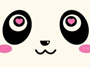 Postal: Panda enamorado