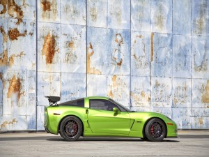 Postal: Chevrolet Corvette verde