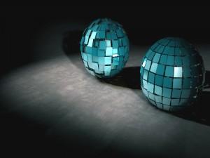 Bolas de cristales azules