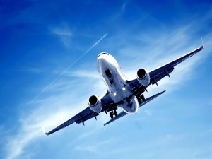 Postal: Avión descendiendo