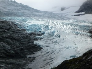 Glaciar en la montaña