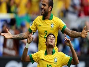 Neymar y Dani Alves (Selección de Brasil)