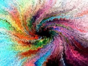 Postal: Espiral de colores