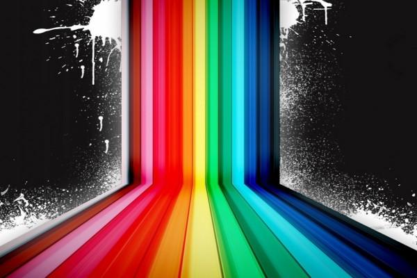 Rayas de colores y salpicaduras