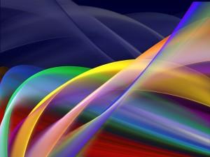 Postal: Líneas curvas de colores