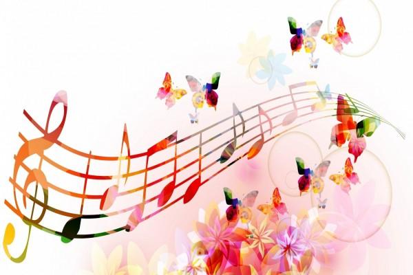 Mariposas bailando en el pentagrama