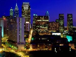 Noche despejada en la ciudad
