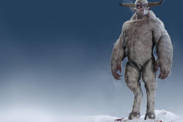 Monstruo en la nieve