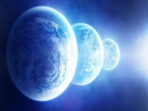 Postal: Tres planetas cercanos