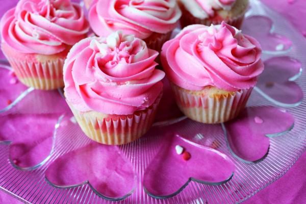 Cupcakes de fresa y nata