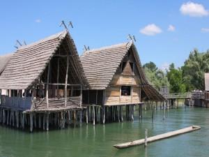 Postal: Casas de zancos en Unteruhldingen