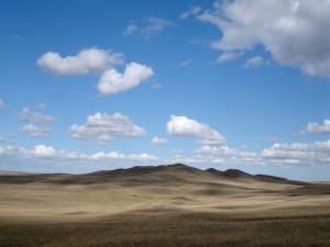 Nubes sobre un lugar solitario