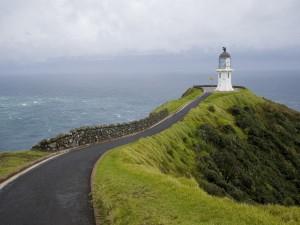 Postal: Carretera hacia el faro