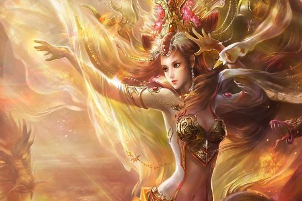 Mujer y dragones