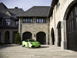 Postal: Lamborghini Murciélago verde