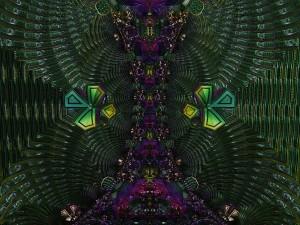 Cascada de formas y colores