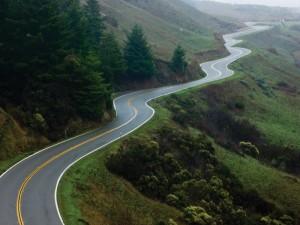 Postal: Carretera con curvas